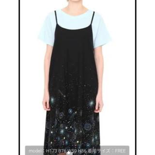 グラニフ(Design Tshirts Store graniph)のgraniphワンピース ブラック 花火柄(ひざ丈ワンピース)