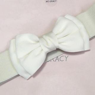 M'S GRACY - 新品♡リボンベルト♡ホワイト♡エムズグレイシー お好きな方にも♡