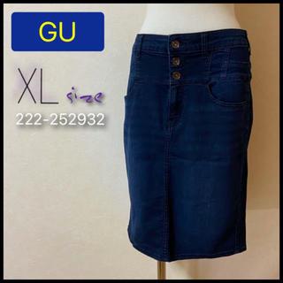 GU - GU ハイウエスト デニム タイトスカート XL