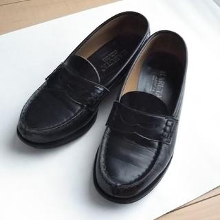 ハルタ(HARUTA)のHARUTA 黒ローファー  24.5cm EE(ローファー/革靴)