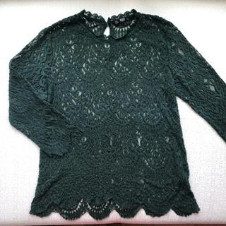ザラ(ZARA)のZARA ザラ レーストップス Lサイズ(Tシャツ(長袖/七分))