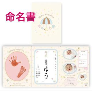 命名紙 赤ちゃん お七夜 手形足形(手形/足形)