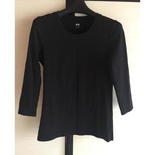 ユニクロ(UNIQLO)のユニクロ★ コットンフライスクルーネックTシャツ(Tシャツ(長袖/七分))
