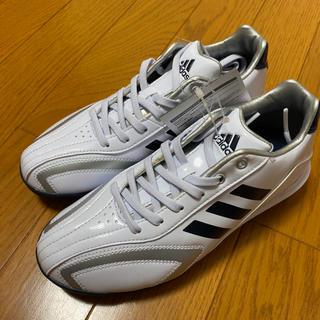 アディダス(adidas)のadidas(ホワイト/ブラック)【野球/21.0/新品】(シューズ)