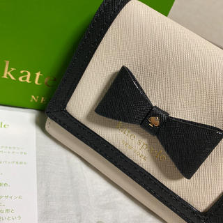 kate spade new york - 極上品 ケイトスペード 折財布 二つ折り財布 バイカラー モノトーン
