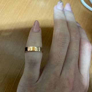 カルティエ(Cartier)のCartier ミニラブリング ピンクゴールド(リング(指輪))