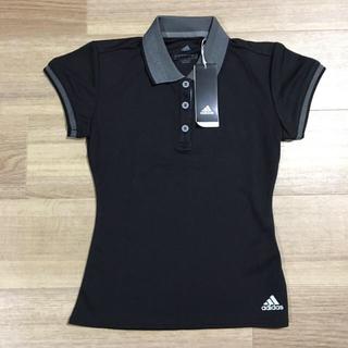 アディダス(adidas)の新品 アディダス レディース S 黒 半袖 シャツ スポーツ climalite(ポロシャツ)