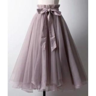 la belle Etude - ラベルエチュード  チュールスカート グレイッシュピンク