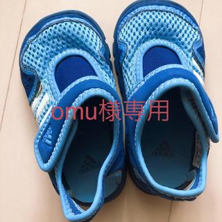 アディダス(adidas)のomu様専用adidas キッズboy   サンダル サイズ 15㎝ 美品(サンダル)