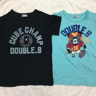 DOUBLE.B - ミキハウス ダブルB Tシャツ2枚セット キューブ アメフト 130サイズ