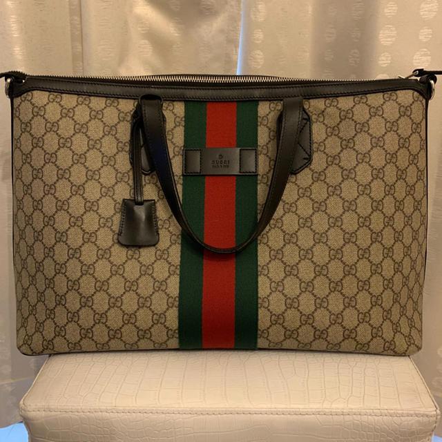 Gucci(グッチ)のGUCCI グッチトートバッグ ダッフルバッグ  GGスプリームキャンバス メンズのバッグ(トートバッグ)の商品写真