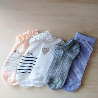 シマムラ(しまむら)の【新品】 しまむら靴下 5足セット(ソックス)
