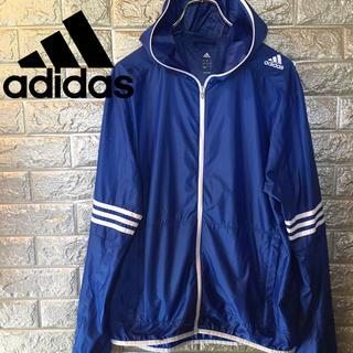 adidas - 【美品】アディダス adidas ウインドジャケット パーカー ナイロン 青 L