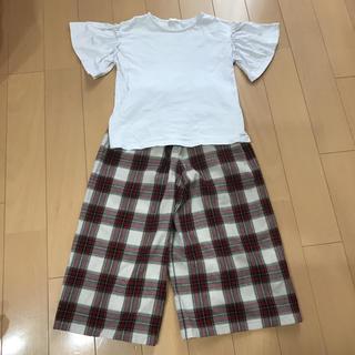ユニクロ(UNIQLO)のユニクロ ガウチョパンツ シャツ 130(パンツ/スパッツ)