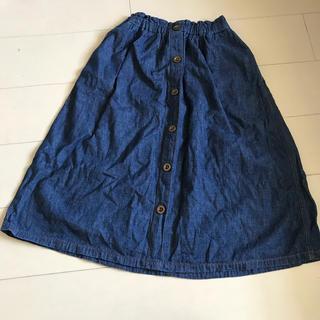 ジーユー(GU)のGUデニムスカート 150(スカート)