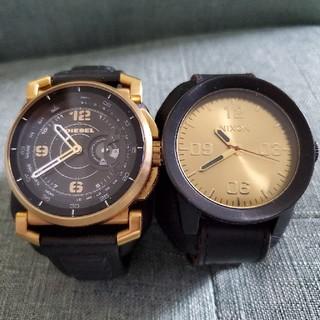 ディーゼル(DIESEL)のDIESEL&NIXONペア腕時計 ディーゼル ニコン(腕時計(アナログ))