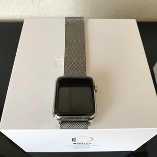 アップルウォッチ(Apple Watch)のApple Watch 42mm A1554 ステンレス ミラネーゼループ(その他)