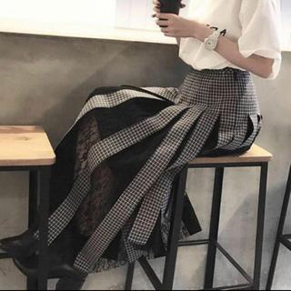 LE CIEL BLEU - IRENE Woven Check Lace Skirt チェックスカート