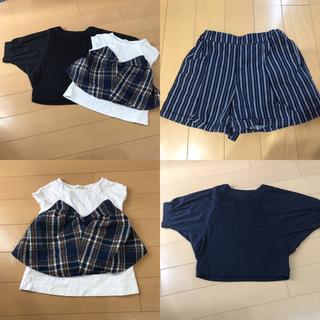 ユニクロ(UNIQLO)の3点 ユニクロ GU シャツ ショートパンツ 女の子 130cm-140cm(Tシャツ/カットソー)