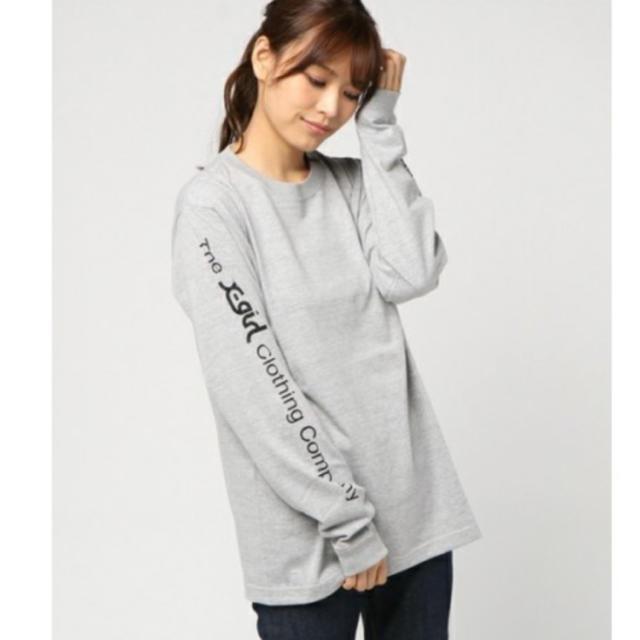 X-girl(エックスガール)の袖ロゴ 長袖Tシャツ レディースのトップス(Tシャツ(長袖/七分))の商品写真