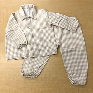 ムジルシリョウヒン(MUJI (無印良品))の無印良品 脇に縫い目のない 二重ガーゼお着替えパジャマ 90~100(パジャマ)