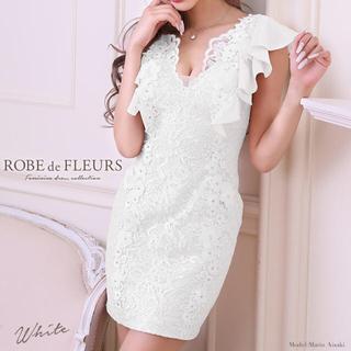ROBE - robe de fleurs キャバ ドレス レース フラワー 美品 S