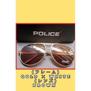 ポリス(POLICE)の【新品】POLICE★ゴールド ディアドロップ サングラス ブラウン系 ケース無(サングラス/メガネ)
