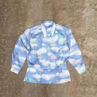 アッシュペーフランス(H.P.FRANCE)のヴィンテージ 雲 パステル シャツ  絵の具 クレヨン(シャツ/ブラウス(長袖/七分))