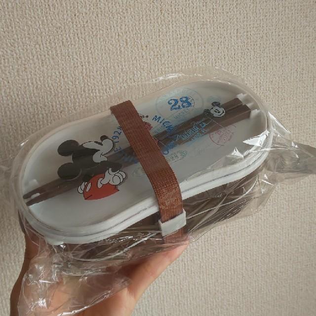 ディズニー ミッキー シンプル 折り畳み ランチボックス インテリア/住まい/日用品のキッチン/食器(弁当用品)の商品写真