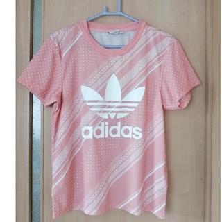 adidas - アディダス ピンク ロゴTシャツ