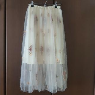 ミスティウーマン(mysty woman)の【値下げ】チュールロングスカート(ロングスカート)