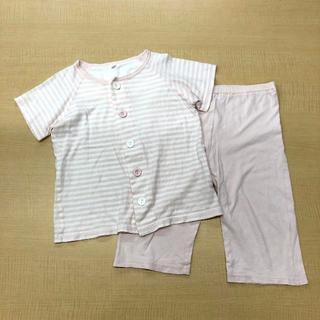 ムジルシリョウヒン(MUJI (無印良品))の【専用】無印良品 天竺編みお着替え半袖パジャマ 110(パジャマ)