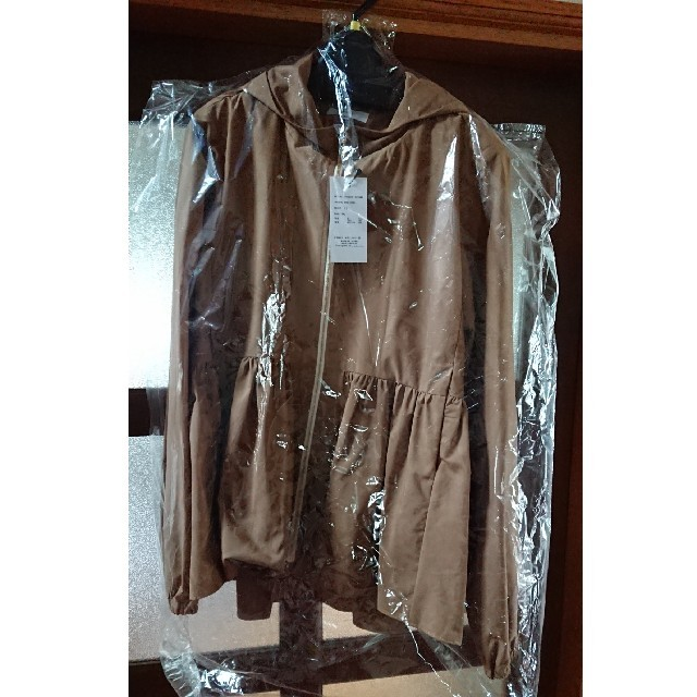 yori ヘムギャザーライトパーカー キャメル 36 レディースのジャケット/アウター(ブルゾン)の商品写真