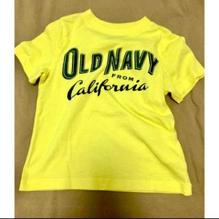 Old Navy - OLDNAVY ヴィンテージ加工ロゴT100 3T イエロー オールドネイビー