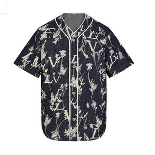 ルイヴィトン(LOUIS VUITTON)のLVリーフデニム ベースボールシャツ XXLサイズ 正規品❣️最安値(Gジャン/デニムジャケット)