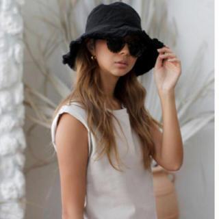 room306 CONTEMPORARY - fringe design bucket hat black バケットハット