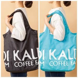 KALDI - カルディ エコバッグ(青、黒) 2点セット KALDI ブルー ブラック