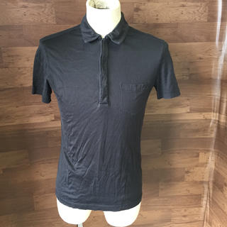 アルマーニジーンズ(ARMANI JEANS)のアルマーニ ジーンズ メンズ 半袖ポロシャツ ブラック サイズXS(ポロシャツ)