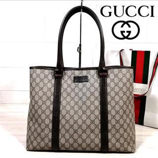 Gucci - 美品 GUCCI GG柄 スプリーム A4収納 トートバッグ PVC