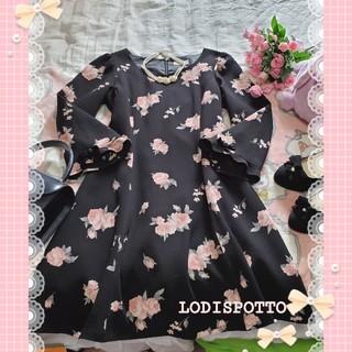 LODISPOTTO - ♡LODISPOTTOロディスポット♡薔薇模様♡ リボンワンピース♡