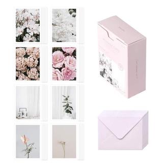 【新入荷!】サンキューカード メッセージカード 韓国インテリア ピンクフラワー(カード/レター/ラッピング)