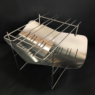焚き火台 スピット3本付属 約380g バーベキューグリル(調理器具)