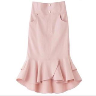 ウィルセレクション(WILLSELECTION)の新品 未使用 タグ付き インスタ人気 ピンク マーメイド タイト スカート(ロングスカート)