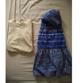 vintage 小花柄スカート