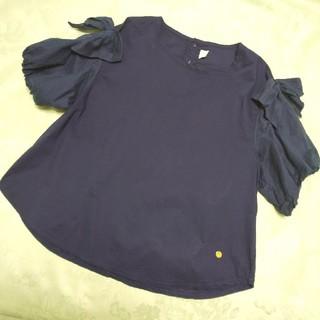 キムラタン(キムラタン)のdolcina (ドルチーナ) 袖口リボンプルオーバー カットソー ママのみ(Tシャツ/カットソー)
