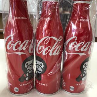 コカコーラ(コカ・コーラ)の☆ 送料無料 新品未開封 3本セット コカ・コーラ 2020 BAPE(ソフトドリンク)