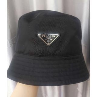 プラダ(PRADA)のプラダ ロゴ ナイロンレイン ハット 帽子(ハット)