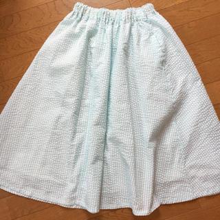 カシータ(casiTA)のブルーストライプロングスカート マキシスカート(ロングスカート)