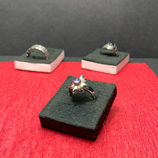 指輪 シルバー925  紫石(リング)
