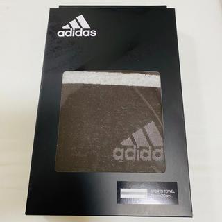 アディダス(adidas)のアディダス♡スポーツタオル♡ブラック×ホワイト(タオル/バス用品)